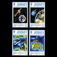 "Jersey 1991 - EUROPA Stamps ""Space Exploration"" - Sc 559/62 MNH"