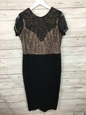 Women's Monsoon Party Dress - UK16 - Black - Great Condition