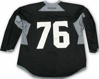 Los Angeles Kings Game Used Practice Jersey Black McDonalds Patch Reebock #76