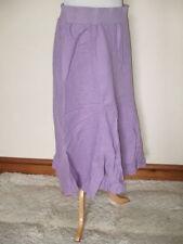 Calf Length Linen Casual Flippy, Full Skirts for Women