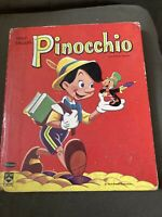 1961 Walt Disney's Pinocchio Whitman Top Top Tales Kids Book - USED