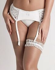bnwt new ladies lepel bouquet ivory bridal suspender belt size 8