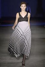 NWT $2300 JONATHAN SAUNDERS RUNWAY BLACK WHITE SILK DRESS GOWN SIZE FR 36 US 2