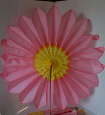 Vintage Mexican Flower Fan Honeycome Denmark 25 inches