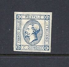 ITALY 1863 15 cent blue unused