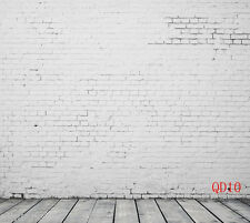 10X10FT Brick Wall & Wood Floor Photography Backdrop Background Studio Prop QD10