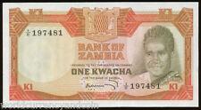 ZAMBIA 1 KWACHA P16 1972 COMMEMORATIVE KAUNDA UNC AFRICA MONEY BILL BANK NOTE