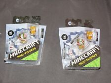 Two sets of 3 Minecraft Mini Figures Killer Rabbit Spawning Pigman Alex in Armor