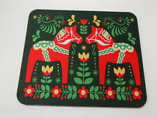 Scandinavian Swedish Dalarna Dala Horse & Flowers Mouse Pad #432D