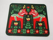Scandinavian Swedish Dalarna Dala Horse & Flowers Mouse Pad #432D