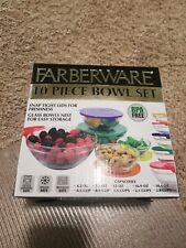 Farberware Bowls 10 Piece Set Snap-Tight Lids BPA Free Food Storage Containers