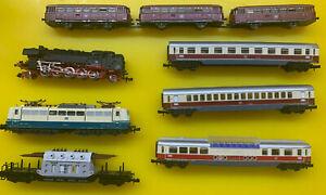 7-tlg. Minitrix Spur N Lok- und Schienenbus-Konvolut 85007,1510737 usw