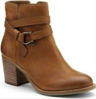 Sperry Women's Top-Sider Chelton Cognac Leather Ankle Heeled Boots! Size 8 M