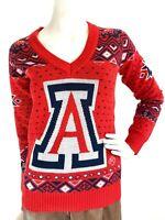 NEW University of Arizona Sweater Campus Specialties V-Neck Red Long Sleeve S