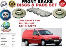 für Opel Astra F Van T92 1.6 1.7 91-99 Vorderbremse Scheibensatz + BREMSBELÄGE