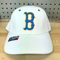UCLA Bruins Athletics NCAA B Logo TOW Stretch One-Fit White Hat EUC Cap Size M/L