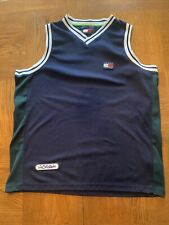 Tommy Hilfiger Vintage Athletics Sewn Mesh Tank Top Basketball Jersey Xl