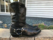 Men's Laredo Leather Harness Strap Slouch Moto Boots Size 11