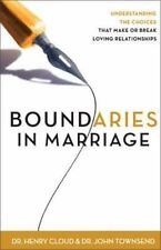Boundaries in Marriage by Henry Cloud and John Townsend (2002, Paperback)