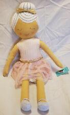 "Pillowfort Ballerina w/ Bun Throw Pillow Plush Doll Embroidered/Knit Approx. 20"""