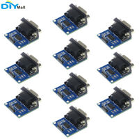 10pc MAX3232 Chip RS232 to TTL Serial Port Converter Module DB9 Connector MAX232