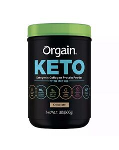 Orgain Keto Collagen Protein Chocolate w/ MCT Oil, 1.1 lbs (500 g)