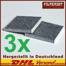 3x (2er Set) Innenraumfilter Pollenfilter Aktivkohle BMW X3 F25 &X4 F26