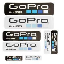 "8 Multi Size GoPro Logo Icon ""Be A Hero"" Decal Decorative Stickers BMX Surf Ski"