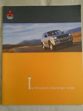 Mitsubishi Challenger range brochure Mar 1999