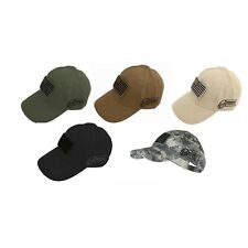 Voodoo Tactical Contractor Hat with Removable US Flag Patch - NEW - U Pick Color