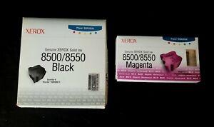 NEW 9 Genuine Xerox 108R00672 Black 108R00670 Magenta Solid Ink Phaser 8500 8550