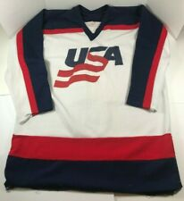 100% Authentic Vintage Team USA Men Size XL Olympic Hockey Jersey 1980's NHL