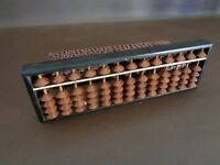 Vintage Wooden Abacus 13 Columns Made in Japan (Cat.#6A084)