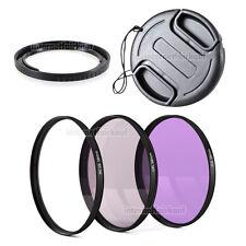Zubehör-Set passend für Canon Powershot G1X  - 3 Filter + Adapter + Deckel