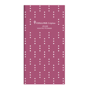 2021-2022 2-Year Planner Collins Colplan Fashion B6/7 Month to View Pink 11W.V50