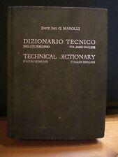 Giorgio Marolli, DIZIONARIO TECNICO, Felice Le Monnier, 1951.