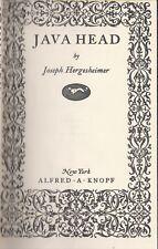 Joseph Hergesheimer . Java Head . 1923 Hc Borzoi Pocket Books Sharp!