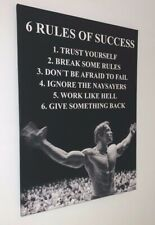 Leinwand Foto Motivation  6 Rules of Success Arnold Schwarzenegger Geschenkidee