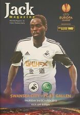 SWANSEA CITY v FC ST GALLEN * EUROPA LEAGUE * 2013/14 PROGRAMME