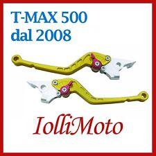 COPPIA LEVE FRENO DESTRA SINISTRA REGOLABILI ORO YAMAHA T-MAX 500 DAL 2008