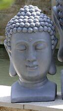 riesiger Buddhakopf 40cm grau Steinoptik Buddha Kopf MODELL