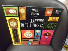 Walt Disney Learning To Tell Time Is Fun LP 1964 Disneyland VG+