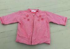 Baby Girls Jacket Red White Striped Size 2-4 Months VGC MEXX