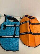 2 Pet Aquatic Reflective Preserver Float Vest Dog Saver Life Jacket Size XL