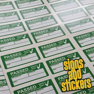 100 PAT Test Pass stickers label passed, waterproof not cheap paper ones +