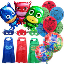 Pj Masks Birthday Party Supplies Balloons Banner cupcake topper COSTUME CAKE