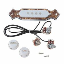 Set Pre-Wired Cigar Box Guitar Pickup With Volume&Tone Pots For Acoustic Guitar