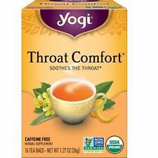 YOGI TEA THROAT COMFORT (16 bags x 6 boxes) Soothes the Throat, CAFFEINE FREE