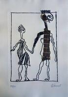 Jean-Jacques LAURENT : Les amoureux de Nice - Gravure originale signée