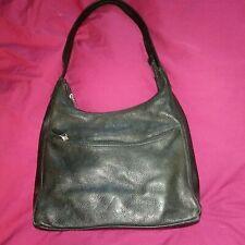 """Pre-Owned Liz Claiborne Handbag Purse Black Leather Co Shoulder 11""""x9""""x5"""""""